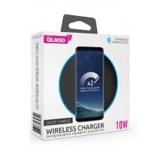 Беспроводное ЗУ OLMIO 10W Quick Charge, черное