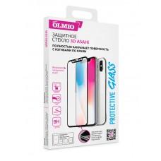 Защитное 3D-стекло Olmio для iPhone 6, 6s (черное)
