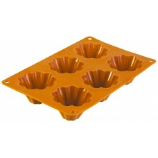 Форма для выпечки TalleR TR-6212, 6 кексов оранжевая