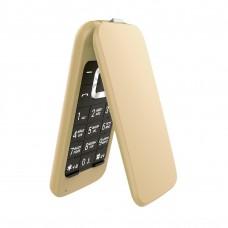 Телефон-раскладушка Olmio F18, золотой