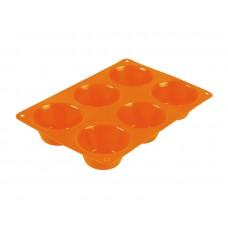 Форма для выпечки TalleR TR-66216, 6 маффинов оранжевая