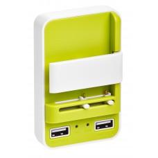 Сетевое зарядное устройство Partner, зеленый