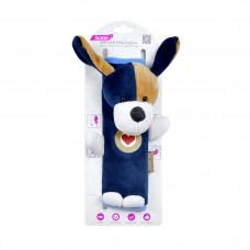 Мягкая накладка на ремни безопасности и лямки рюкзаков «Собачка», синяя, OLMIO