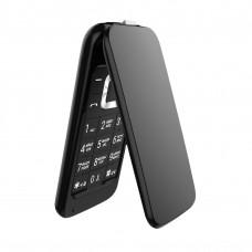 Телефон-раскладушка Olmio F18, черный