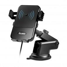 Автомобильный держатель для смартфонов QI, 10W, OLMIO
