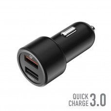 Автомобильное ЗУ 2USB, 30W, 5.4A, QuickCharge3.0, Smart IC, OLMIO