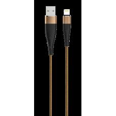 Кабель SOLID, USB 2.0 - lightning, 1.2м, 2.1A, капучино, OLMIO