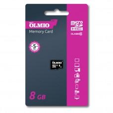 Карта памяти microSDHC 8GB Class 10, без адаптера, OLMIO