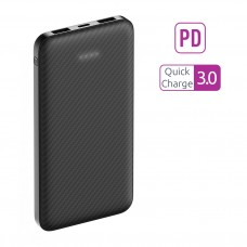 Внешний аккумулятор Q1, 10000mAh, QuickCharge3.0, Type-C PD, carbon black, OLMIO