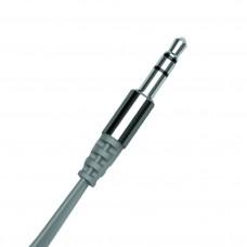 Аудиокабель AUX 3.5(m)-3.5(m), 1.2м, серый, OLMIO