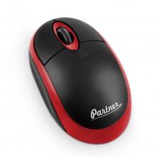 Мышь беспроводная Cordless WM-025, 3кн, 1200DPI, USB наноресивер, черно-красная, Partner