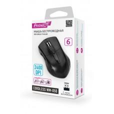Мышь беспроводная Cordless WM-050, 6кн, 2400DPI, USB наноресивер, черная, Partner