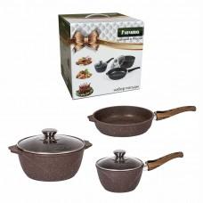 Набор посуды гранит brown