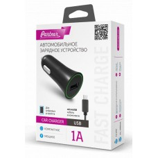 Автомобильное зарядное устройство Partner USB 1A +microUSB кабель