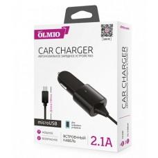 Автомобильное зарядное устройство microUSB, 2.1A, OLMIO