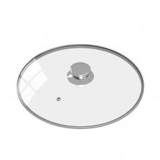 Крышка c металлическим ободком и паровыпуском, с круглой ручкой из нержавеющей стали 26 см