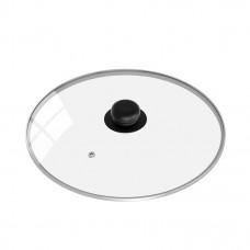 Крышка c металлическим ободком и паровыпуском, с круглой ручкой из пластика 24 см
